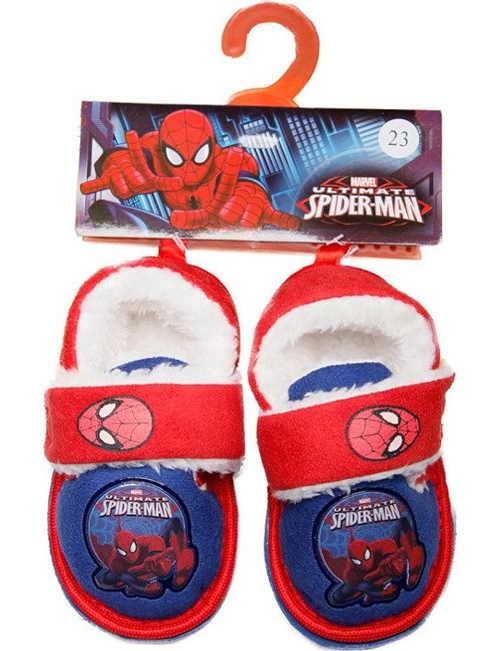 Dětské hřejivé papuče Spiderman