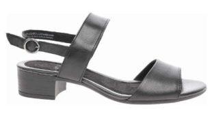 Černé dámské sandály na podpatku