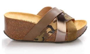 Kožené dámské pantofle na vysoké platformě EMMA Shoes