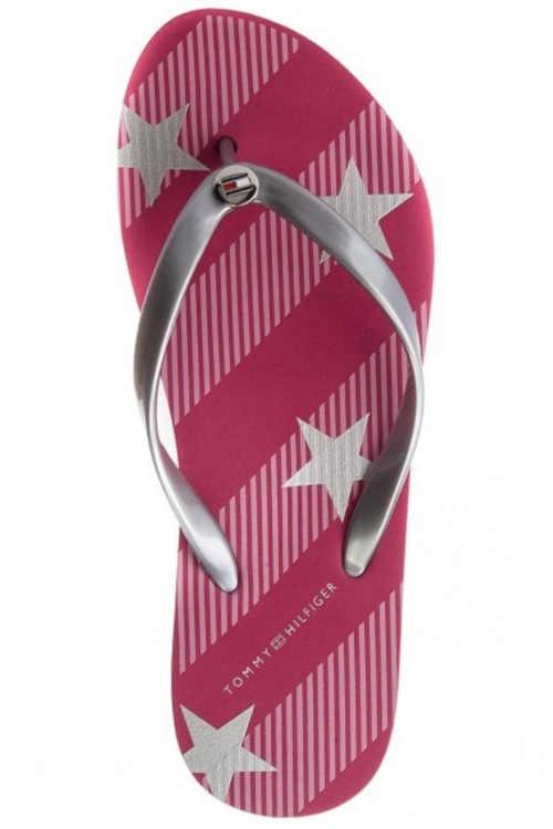 letní dámské boty TH v růžovém provedení