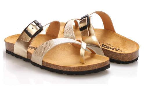 Letní dámské kožené pantofle
