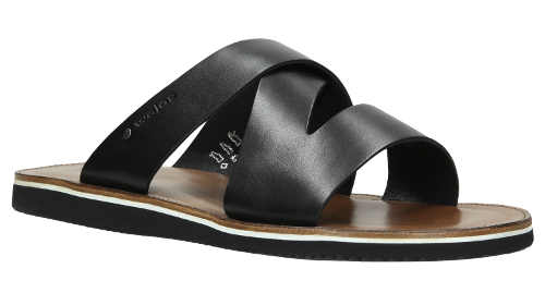Pánské letní kožené pantofle výprodej