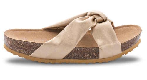 Pohodlné korkové pantofle s vysokou zaoblenou podrážkou