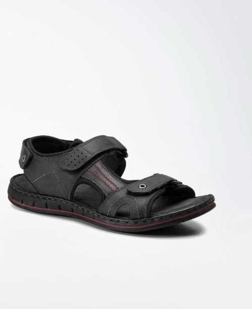 černé pánské sandály z kůže