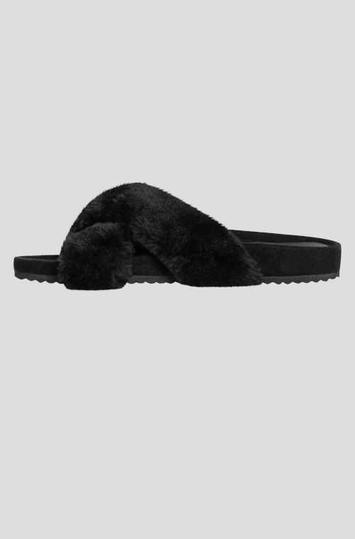 moderní dámské pantofle s kožešinou