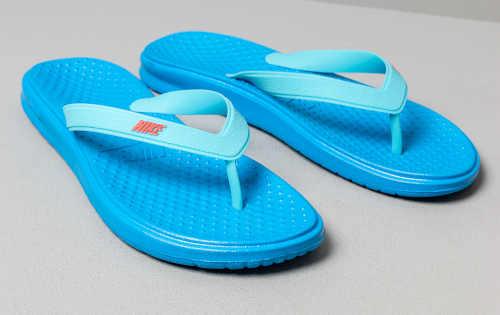 modré Nike dětské žabky gumové
