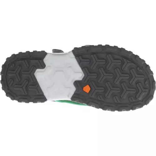páskové dětské sandály zeleno-žluté