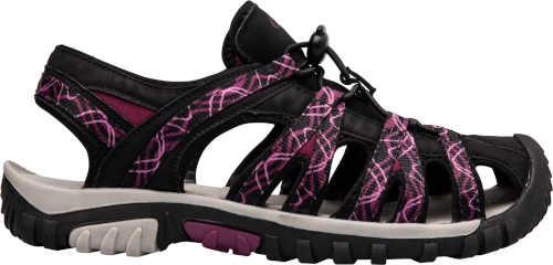 sandály dámské v černo-fialovém provedení