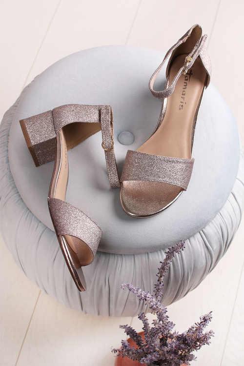 sandály na nižším širokém podpatku