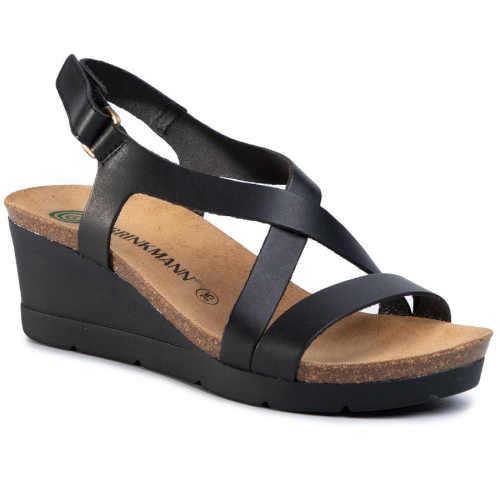 Dámské kožené páskové sandály