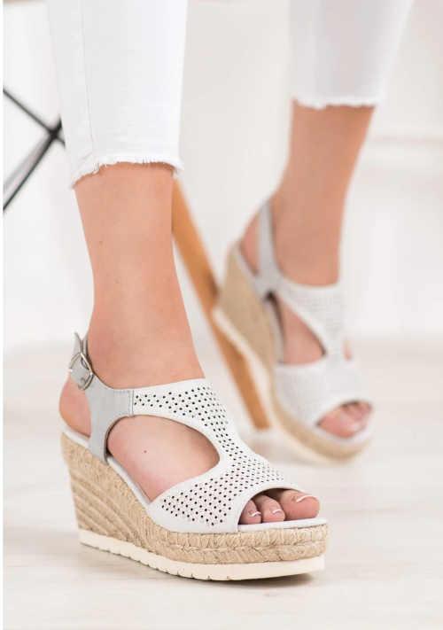 Dámské moderní sandály na vyšším klínu
