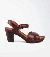 Dámské páskové sandály na širším podpatku