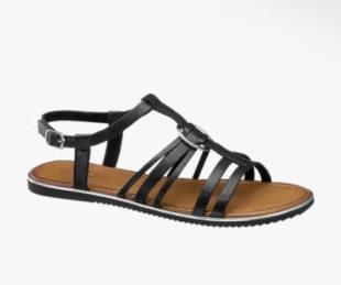 Moderní dámské kožené páskové sandálky