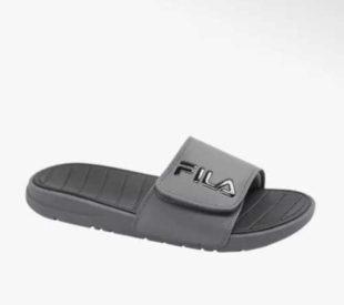 Pánské šedé pantofle FILA na suchý zip