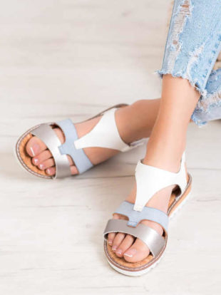 Pohodlné barevné páskové sandálky