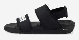 Černé dětské sandále Puma Softride