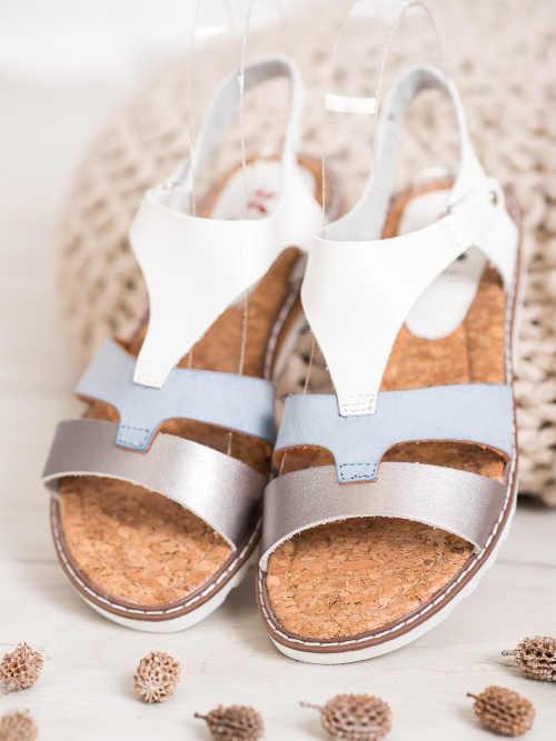 dámské komfortní sandálky na suchý zip