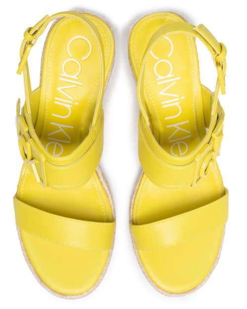 Dámské otevřené sandály CK ve veselé žluté barvě