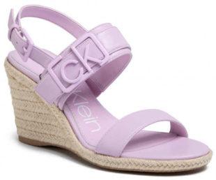 Fialkové dámské sandály espadrilky CALVIN KLEIN