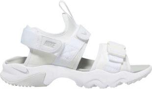 Jednobarevné bílé dámské sportovní sandály Nike CANYON SANDAL