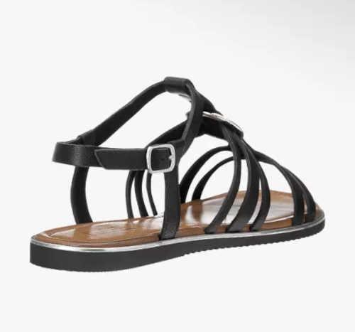 kožené dámské sandálky černé