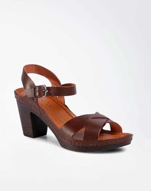 páskové kožené letní sandály