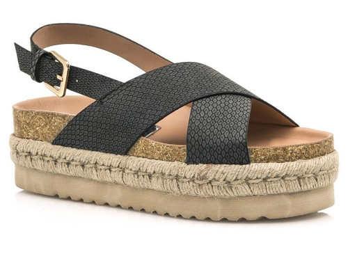 Pohodlné sandálky na espadrillové podrážce