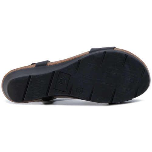 sandály z kůže na klínu
