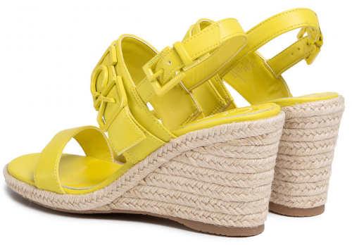 Žluté dámské sandály espadrilky Calvin Klein