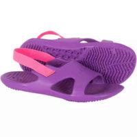 Dívčí pantofle k vodě ve fialovo-růžovém provedení
