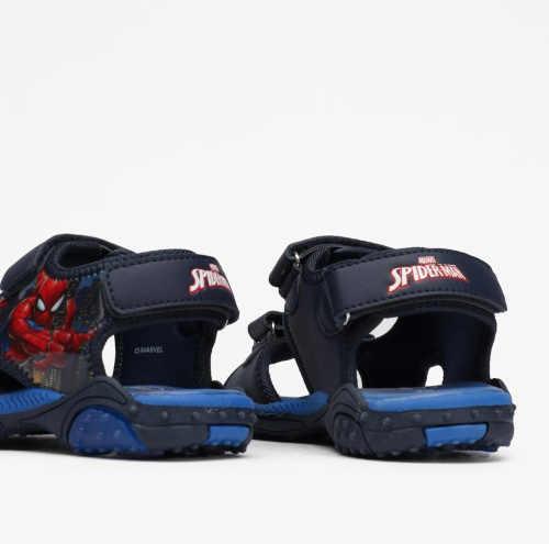 blikající modré sandály Spiderman