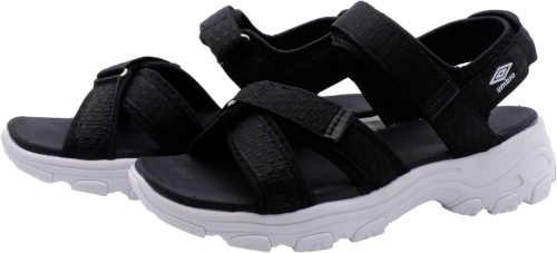 černo-bílé dámské sandály