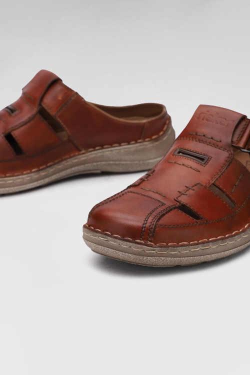 stylové kožené pánské pantofle