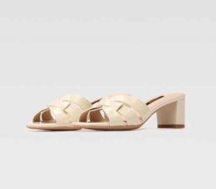Elegantní páskové kožené pantofle