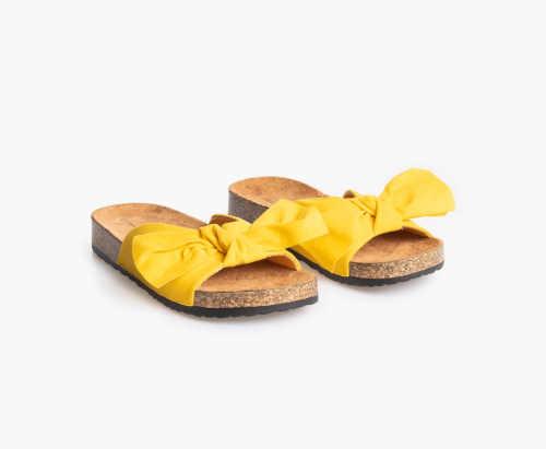 dámské pohodlné pantofle žluté