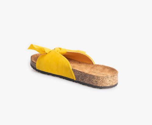 letní pantofle s mašlí