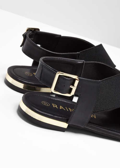 sandály černé na nízkém podpatku
