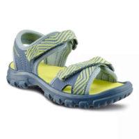 Dětské turistické sandály v šedo-žlutém provedení