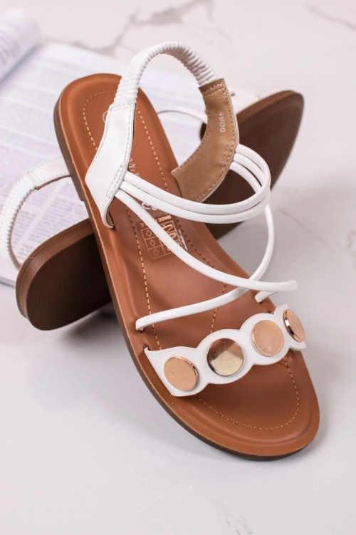 Moderní dámské sandály z eko kůže