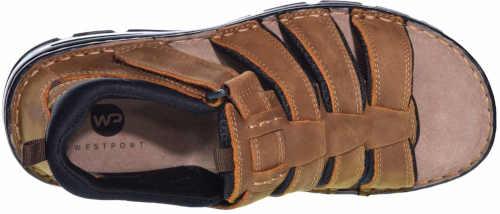 černo-hnědé sandály kožené