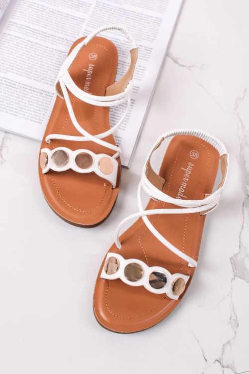 elegantní nízké páskové sandály